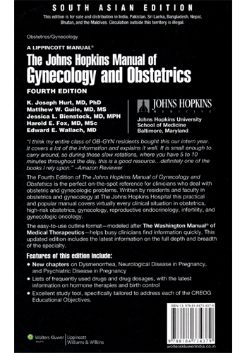 the johns hopkins manual of gynecology and obstetrics lippincott manual series
